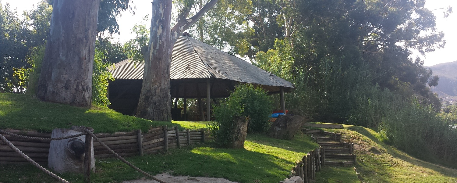 the lapa at the river at Bonnievale River Lodge. This is a function venue when required.